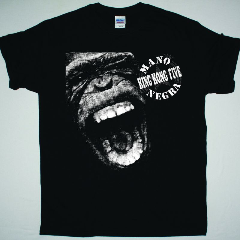 MANO NEGRA KING KONG FIVE NEW BLACK T-SHIRT