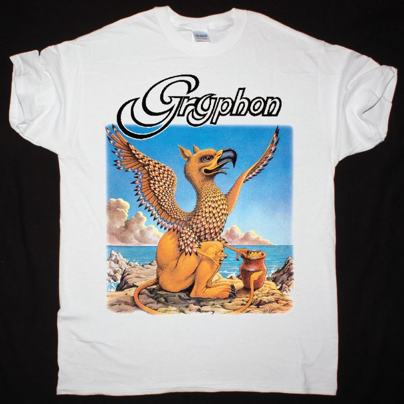 GRYPHON GRYPHON 1973 NEW WHITE T SHIRT