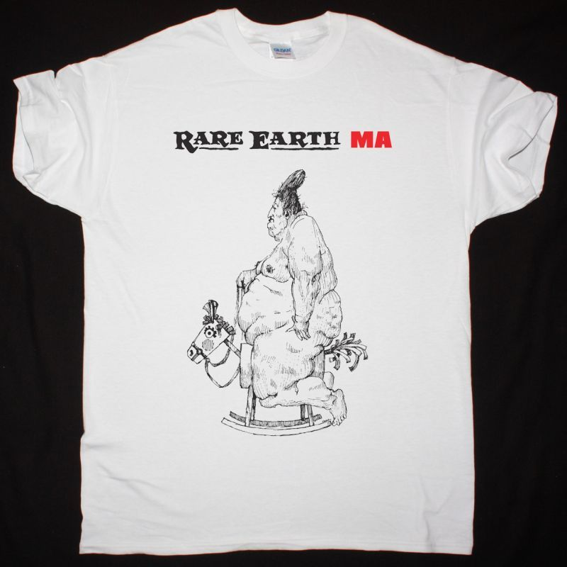 RARE EARTH MA 1973 NEW WHITE T-SHIRT