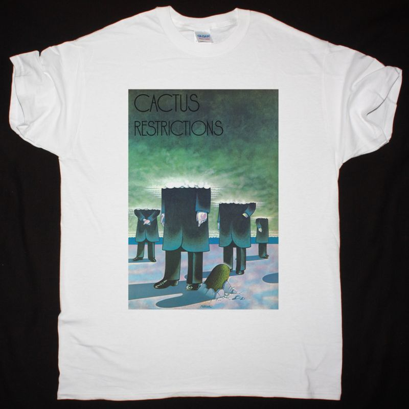 CACTUS RESTRICTIONS 1971 NEW WHITE T SHIRT