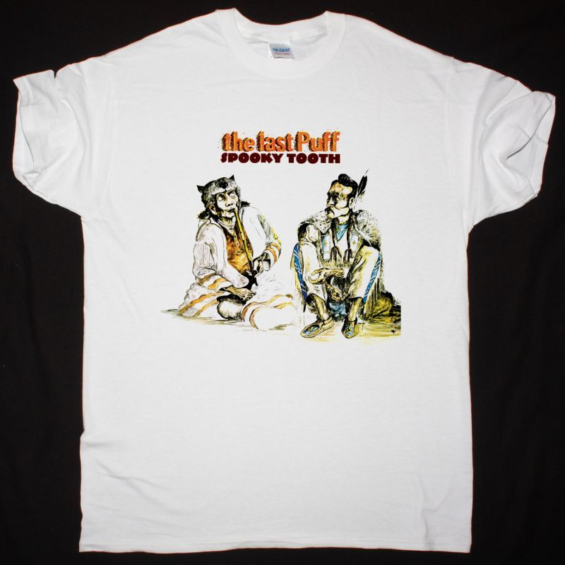SPOOKY TOOTH THE LAST PUFF 1970 NEW WHITE T-SHIRT