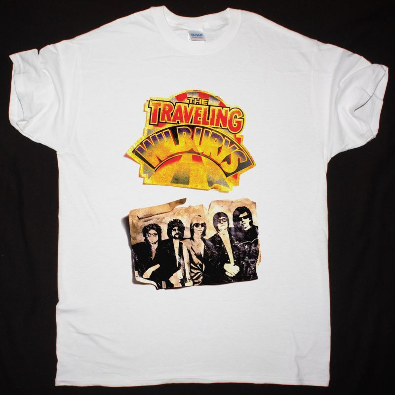 THE TRAVELING WILBURYS VOL 1 1988 NEW WHITE T SHIRT