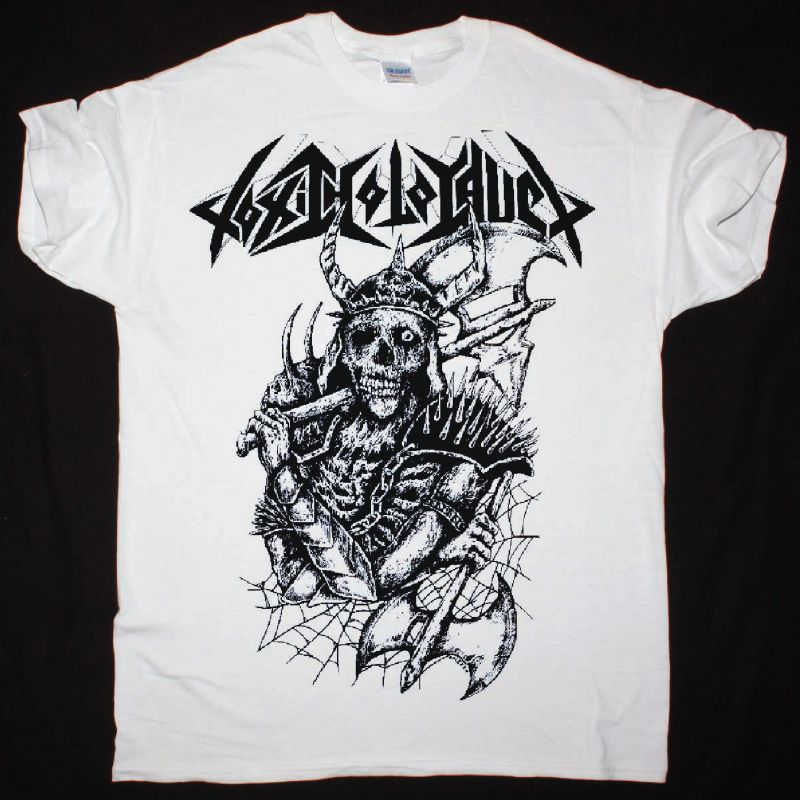 TOXIC HOLOCAUST BATTLE AXE NEW WHITE T SHIRT