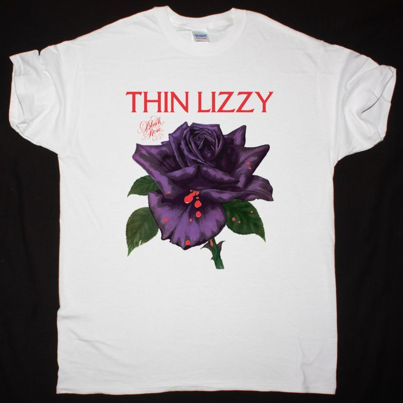 THIN LIZZY BLACK ROSE : A ROCK LEGEND 1979 NEW WHITE T-SHIRT