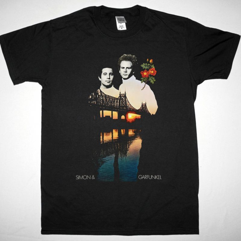 SIMON & GARFUNKEL NEW BLACK T SHIRT