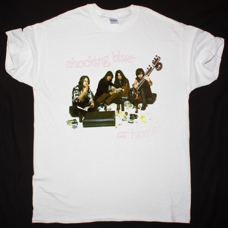 SHOCKING BLUE AT HOME 1969 NEW WHITE T-SHIRT