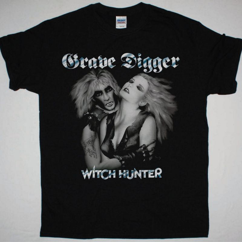 GRAVE DIGGER WITCH HUNTER NEW BLACK T-SHIRT
