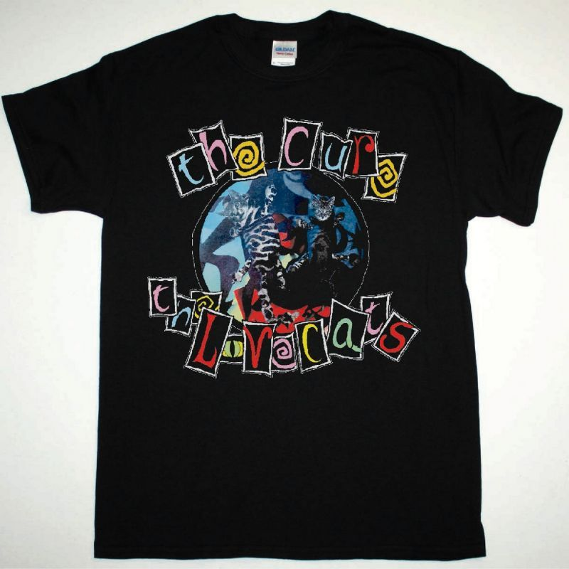 THE CURE THE LOVECATS NEW BLACK T-SHIRT