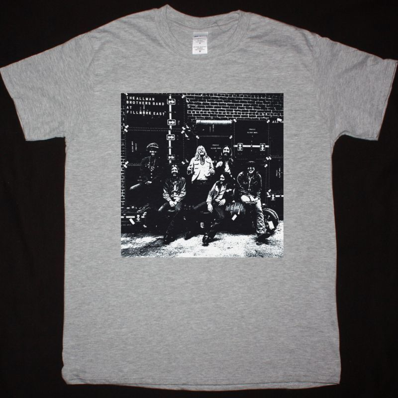 THE ALLMAN BROTHERS BAND AT FILLMORE EAST 1971 NEW SPORT GREY T SHIRT