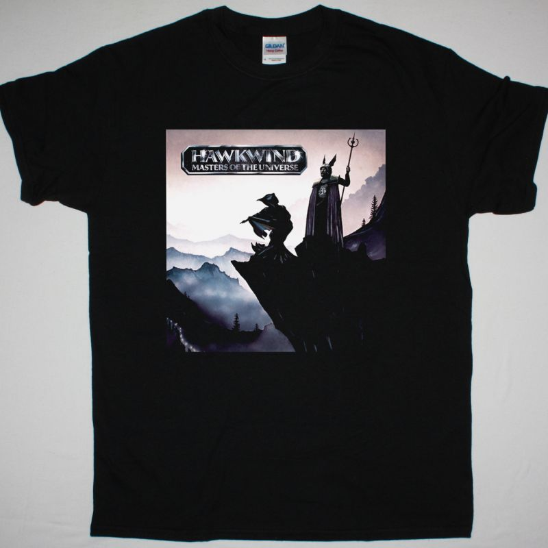 HAWKWIND MASTERS OF THE UNIVERSE NEW BLACK T-SHIRT