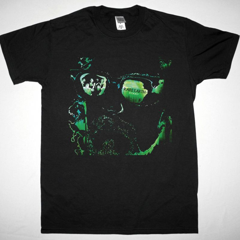 RARE EARTH ECOLOGY 1970 NEW BLACK T SHIRT