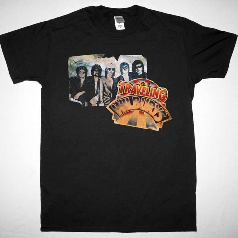 THE TRAVELING WILBURYS VOL. 1 1988 NEW BLACK T SHIRT
