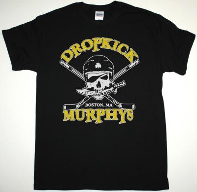 DROPKICK MURPHYS HOCKEY SKULL NEW BLACK T-SHIRT