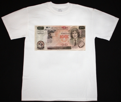 AC DC MONEYTALKS'90 AC/DC  NEW WHITE T-SHIRT