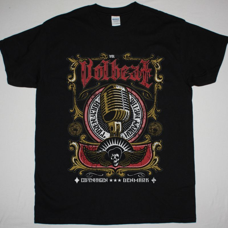 VOLBEAT COPENHAGEN DENMARK NEW BLACK T-SHIRT