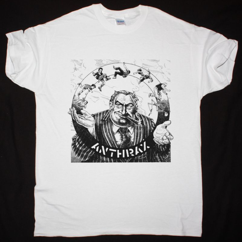 ANTHRAX (UK) CAPITALISM IS CANNIBALISM EP 1982 NEW WHITE T-SHIRT