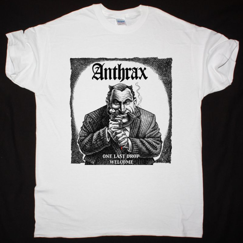 ANTHRAX (UK) ONE LAST DROP NEW WHITE T-SHIRT