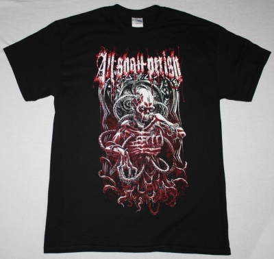 ALL SHALL PERISH EXECUTION NEW BLACK T-SHIRT