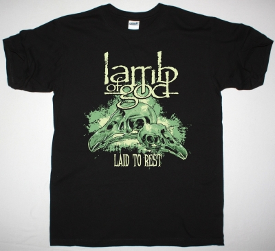 LAMB OF GOD LAID TO REST NEW BLACK T-SHIRT