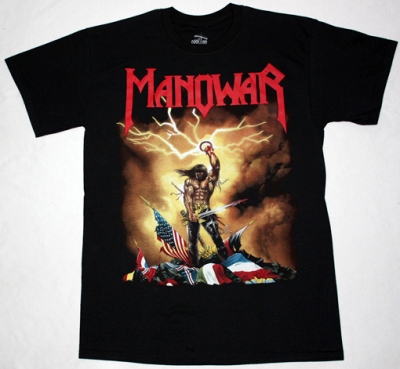 MANOWAR KINGS OF METAL'88 NEW BLACK T-SHIRT