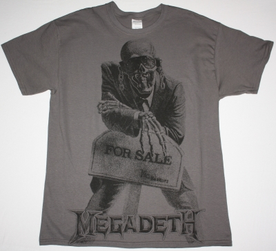MEGADETH PEACE SELLS ... BUT WHO'S BUYING JUMBO PRINT NEW GREY CHARCOAL T-SHIRT