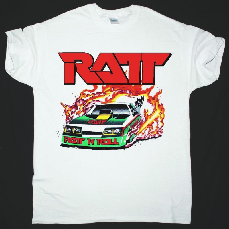 RATT DANCING UNDERCOVER WORLD TOUR 1987 NEW WHITE T-SHIRT