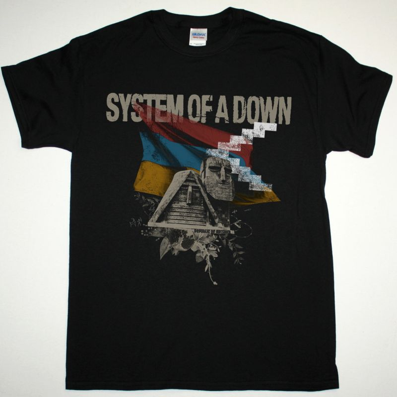 SYSTEM OF A DOWN PROTECT THE LAND / GENOCIDAL HUMANOID NEW BLACK T SHIRT