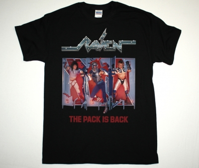 RAVEN THE PACK IS BACK 86 NEW BLACK T-SHIRT
