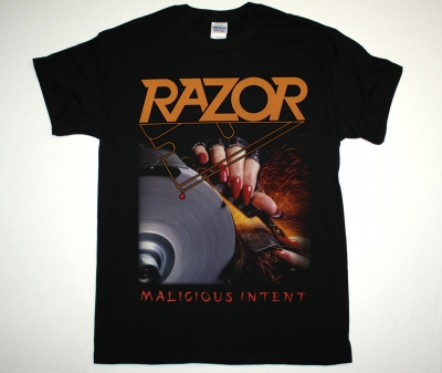 RAZOR MALICIOUS INTENT 86 NEW BLACK T-SHIRT