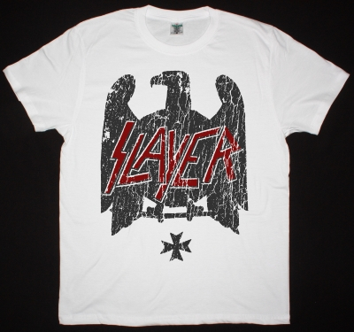SLAYER EAGLE 2  NEW WHITE T SHIRT