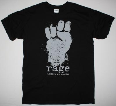 RAGE AGAINST THE MACHINE FIST LOGO NEW BLACK T-SHIRT