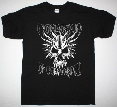 CORROSION OF CONFORMITY SKULL NEW BLACK T-SHIRT
