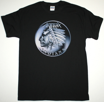 ANTHRAX INDIANS NEW BLACK T SHIRT