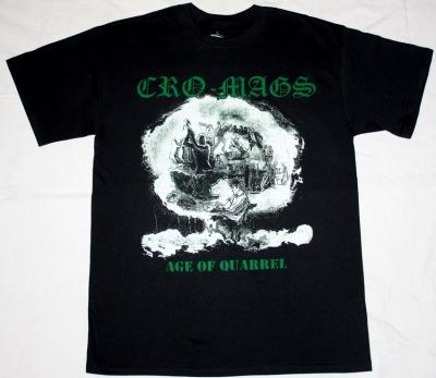 CRO-MAGS THE AGE OF QUARREL'86  NEW BLACK T-SHIRT