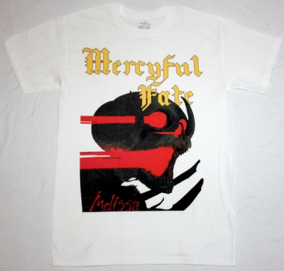 MERCYFUL FATE MELISSA'83  NEW WHITE T-SHIRT