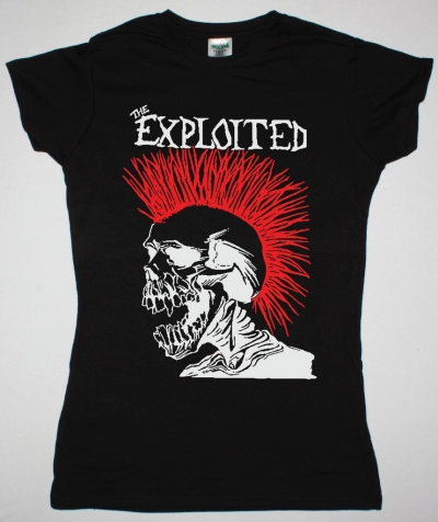 EXPLOITED LET'S START A WAR NEW BLACK LADY T-SHIRT