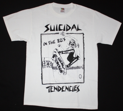 SUICIDAL TENDENCIES IN THE 80'S  NEW WHITE T-SHIRT