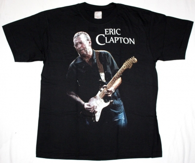 ERIC CLAPTON NEW BLACK T-SHIRT