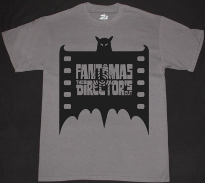FANTOMAS BAT  NEW GREY T-SHIRT