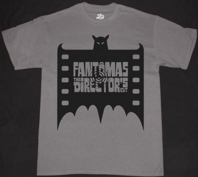 FANTOMAS BAT  NEW GREY T-SHIRT