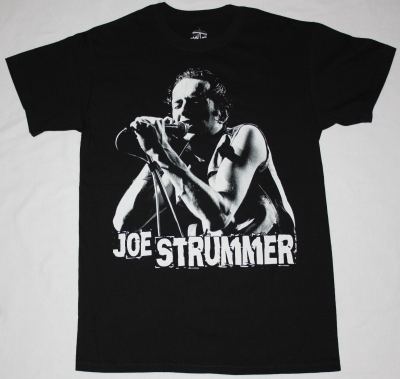 JOE STRUMMER THE CLASH NEW BLACK T-SHIRT