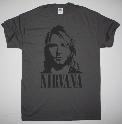 NIRVANA KURT COBAIN NEW GREY CHARCOAL T-SHIRT