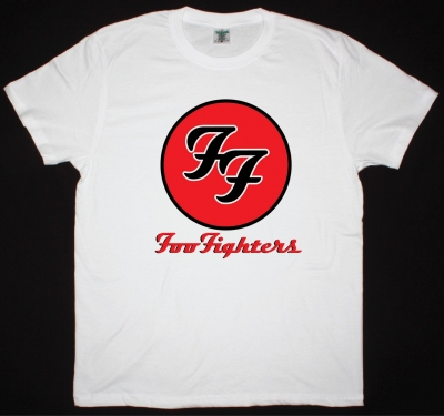 FOO FIGHTERS LOGO NEW WHITE T-SHIRT