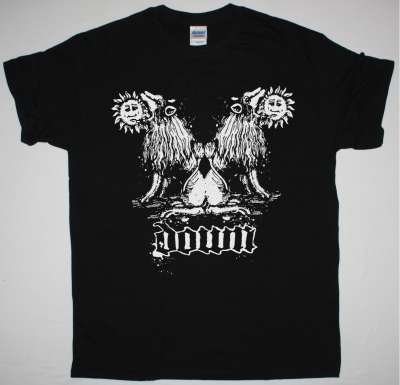 DOWN DOUBLE LION NEW BLACK T SHIRT