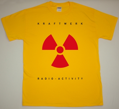 KRAFTWERK RADIO-ACTIVITY 1975 NEW YELLOW T-SHIRT