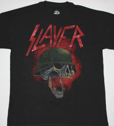 SLAYER SKULL NEW BLACK T-SHIRT