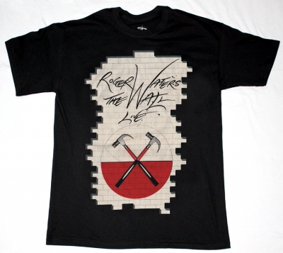 ROGER WATERS THE WALL - LIVE NEW BLACK T-SHIRT