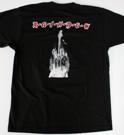 RAINBOW RITCHIE BLACKMORE'S'75 FIRST ALBUM NEW BLACK T-SHIRT