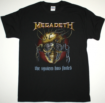 MEGADETH THE SYSTEM HAS FAILED NEW BLACK T SHIRT