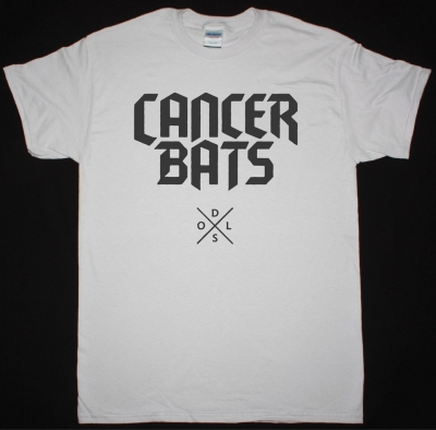 CANCER BATS DEATH SET ON LIVING LOGO NEW ICE GREY T-SHIRT